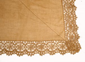 An Arts and Crafts linen bedspread-1026