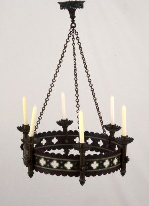 A pair of Gothic Revival chandeliers-0