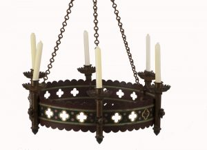A pair of Gothic Revival chandeliers-1046