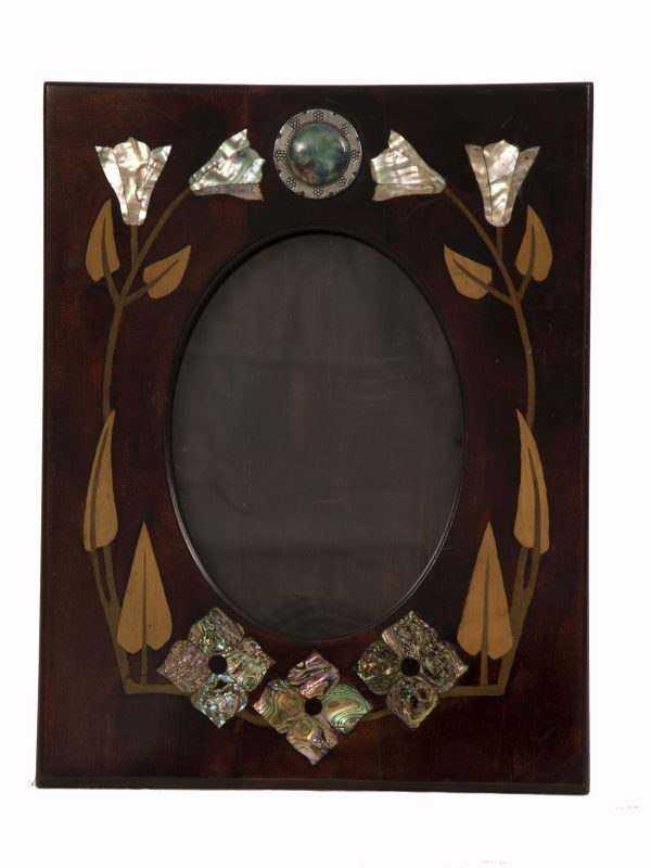 An inlaid Arts and Crafts frame-0