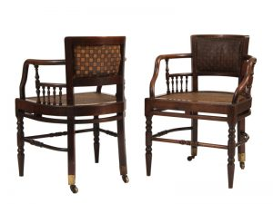 A pair of chairs -1122