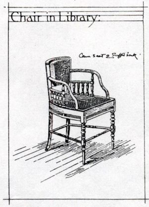 A pair of chairs -1124