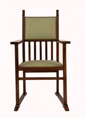 An Arts and Crafts armchair -0