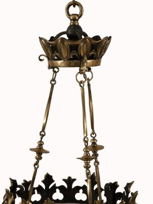 A brass hanging light-1081