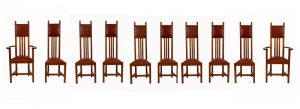 A set of ten chairs -1084