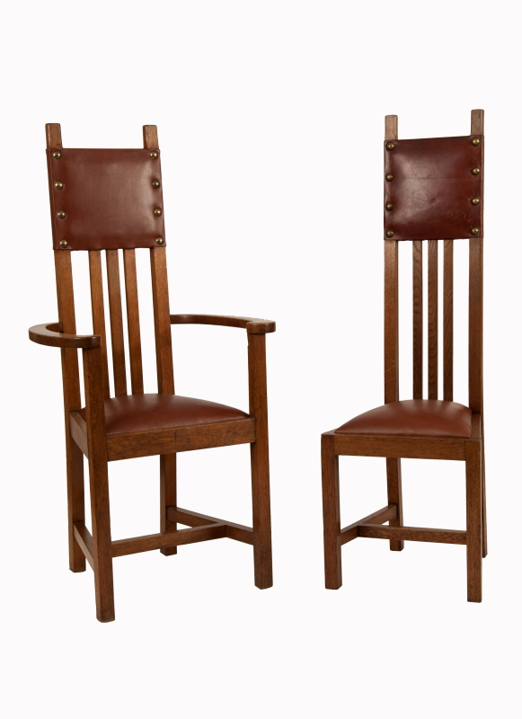 A set of ten chairs -0