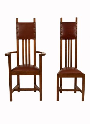 A set of ten chairs -1088