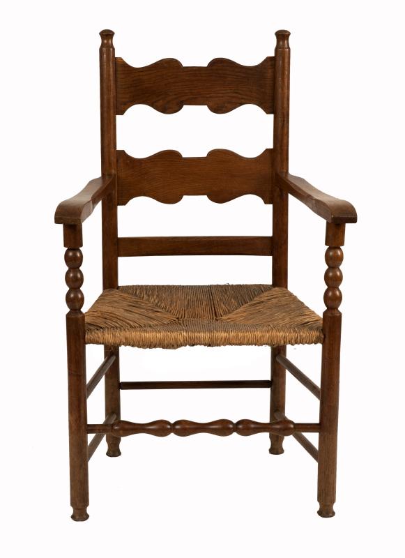 A ladderback armchair-0