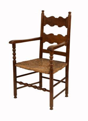 A ladderback armchair-1139