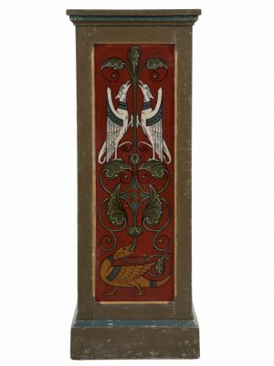 A pair of painted Gothic Revival pedestals-1183