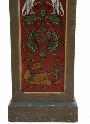 A pair of painted Gothic Revival pedestals-1177