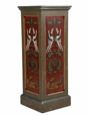A pair of painted Gothic Revival pedestals-1182