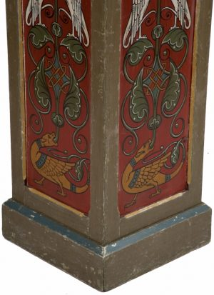 A pair of painted Gothic Revival pedestals-1179
