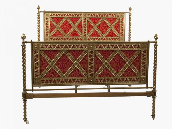 A Gothic Revival brass bed -0
