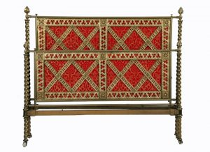 A Gothic Revival brass bed -1225