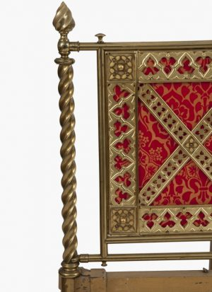 A Gothic Revival brass bed -1229