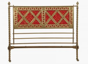 A Gothic Revival brass bed -1223