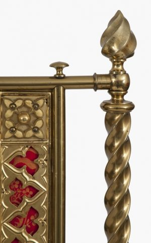 A Gothic Revival brass bed -1226