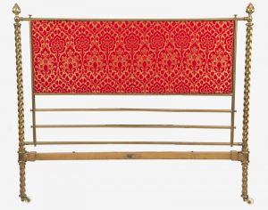 A Gothic Revival brass bed -1222
