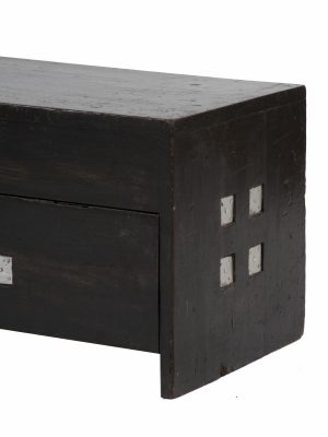 An ebonised pine toy chest -1300