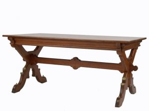 A Gothic Revival pitch pine table-1309