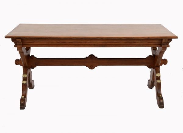 A Gothic Revival pitch pine table-0