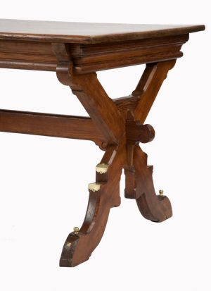 A Gothic Revival pitch pine table-1307