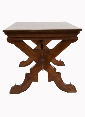 A Gothic Revival pitch pine table-1306