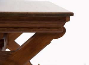 A Gothic Revival pitch pine table-1304