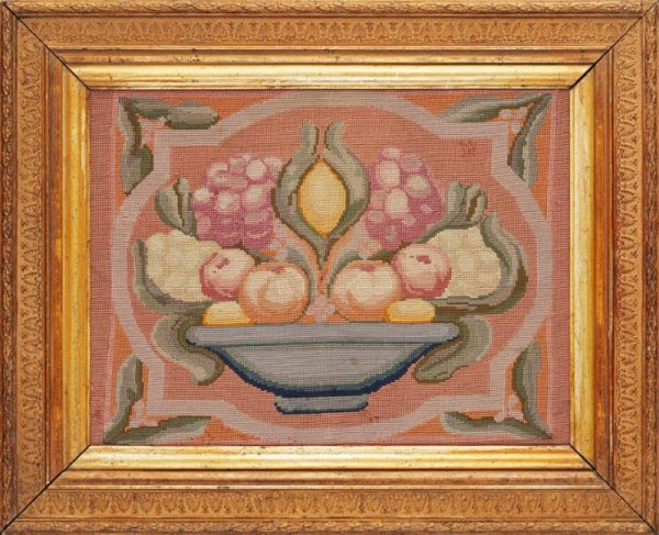 Embroidered woolwork panel.-0
