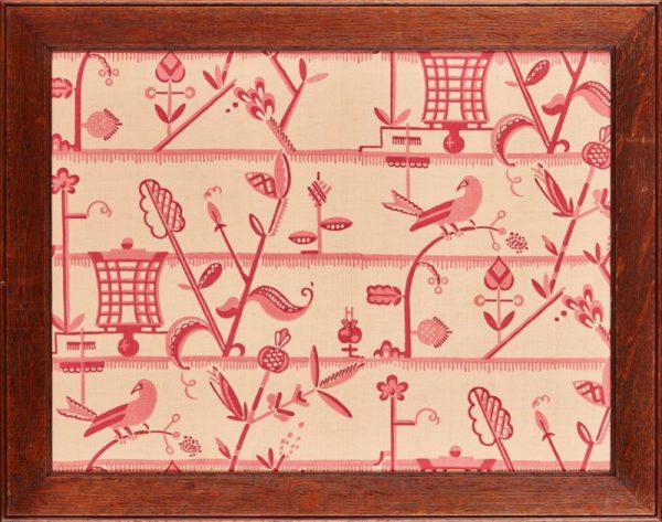 Rare Secessionist printed silk panel.-0