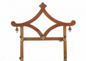 A good walnut Aesthetic Movement coat stand-1338
