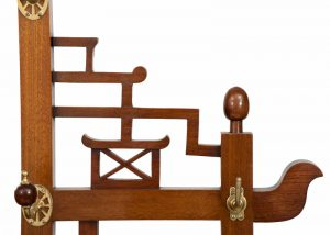 A good walnut Aesthetic Movement coat stand-1335