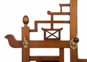A good walnut Aesthetic Movement coat stand-1342
