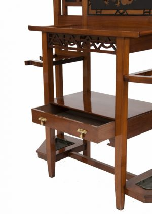 A good walnut Aesthetic Movement coat stand-1334