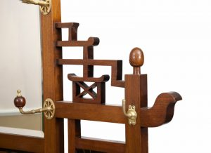 A good walnut Aesthetic Movement coat stand-1343