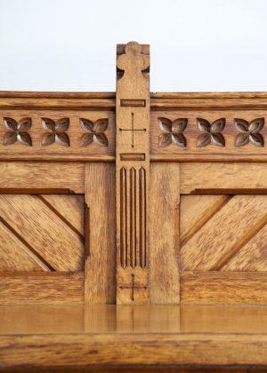 A good oak serving table-1445