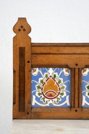An inlaid oak washstand -1449