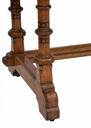 An inlaid oak washstand -1452