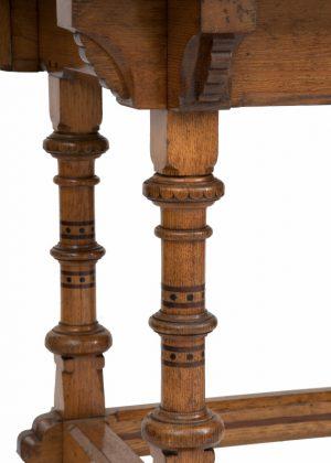 An inlaid oak washstand -1455