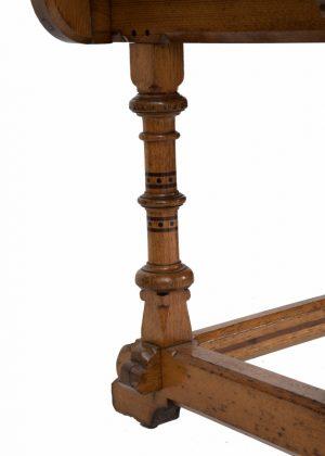 An inlaid oak washstand -1453