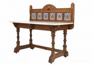 An inlaid oak washstand -1448