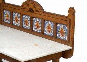 An inlaid oak washstand -1450