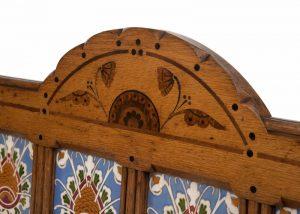 An inlaid oak washstand -1457