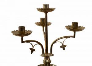 A pair of brass candelabra-1485