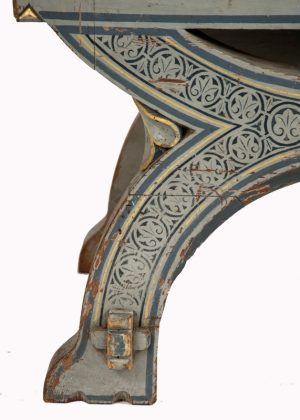 A painted Gothic Revival chair -1589