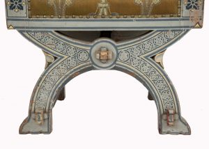 A painted Gothic Revival chair -1590