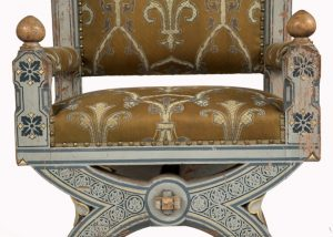 A painted Gothic Revival chair -1591