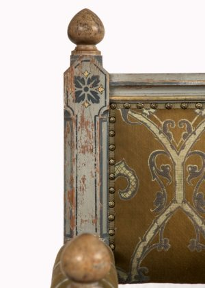 A painted Gothic Revival chair -1593