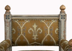A painted Gothic Revival chair -1595